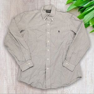 Ralph Lauren Custom Fit Checked Button Fro…